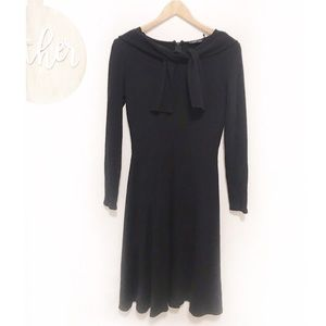 Teri Jon rickie freemen wool black dress